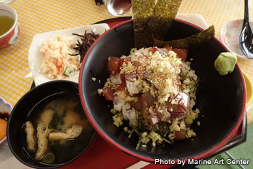 There are many varieties of seafood at Daibo